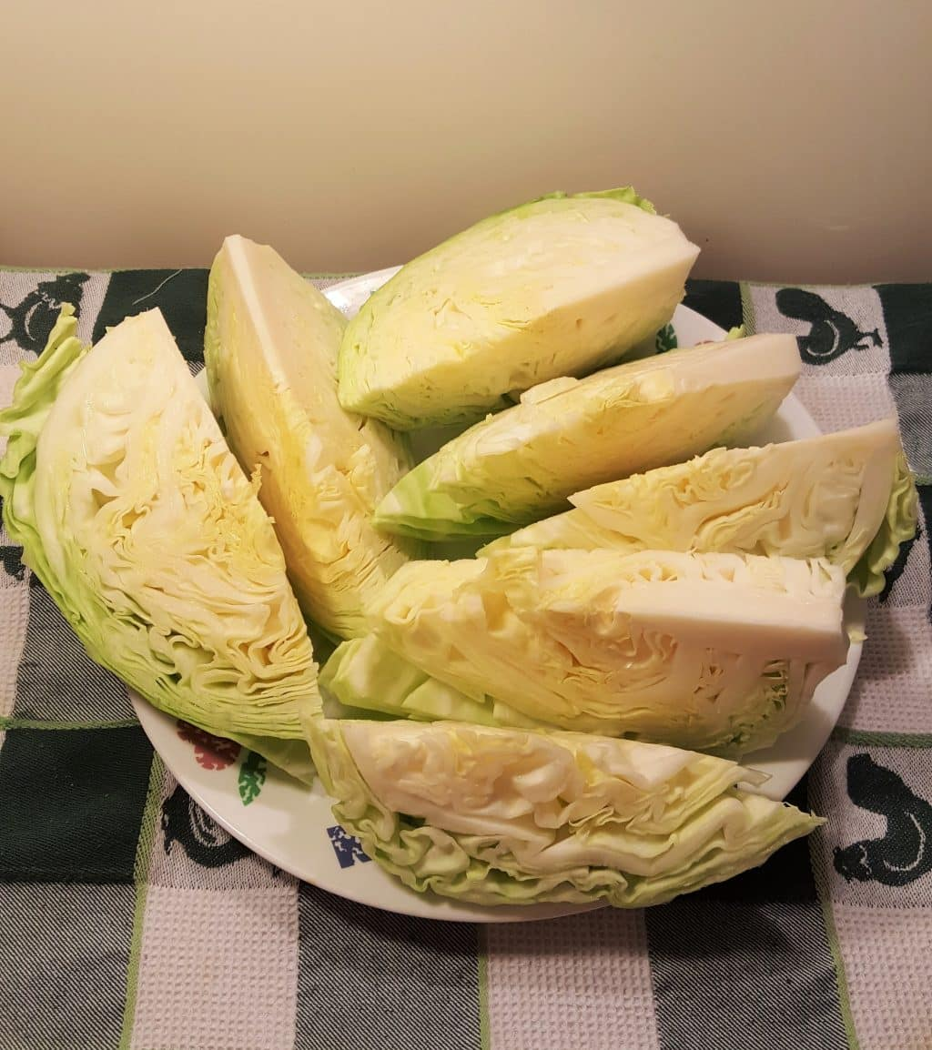 Cut Cabbage into Pieces