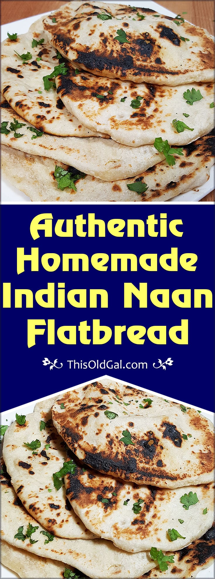 Authentic Homemade Indian Naan Flatbread
