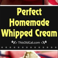 Perfect Homemade Whipped Cream
