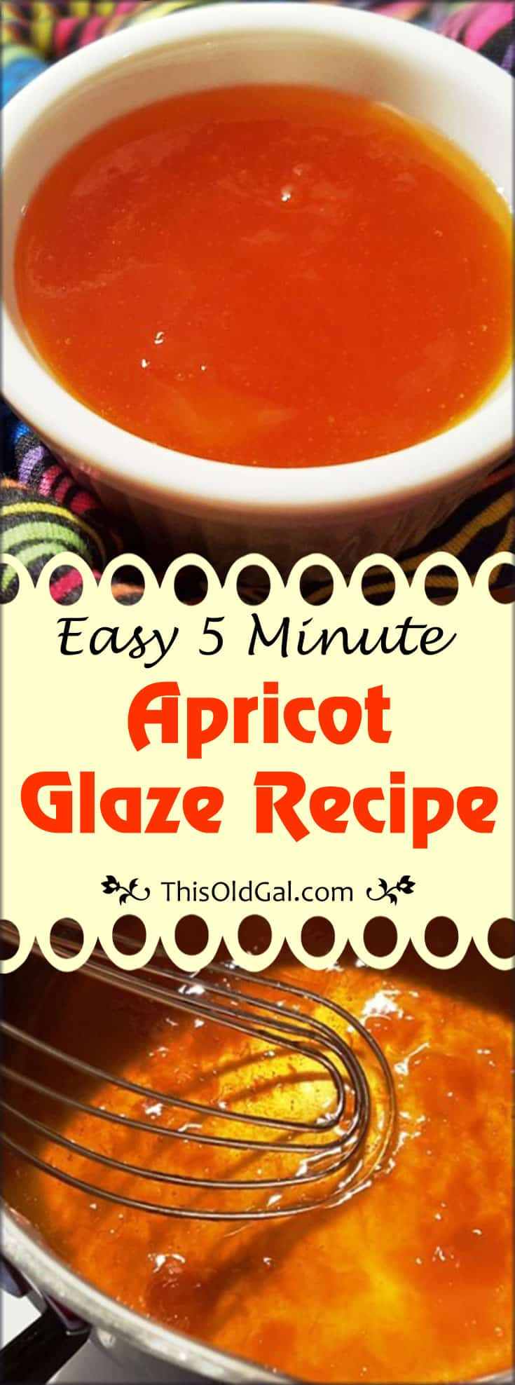 Easy 5 Minute Apricot Glaze Recipe
