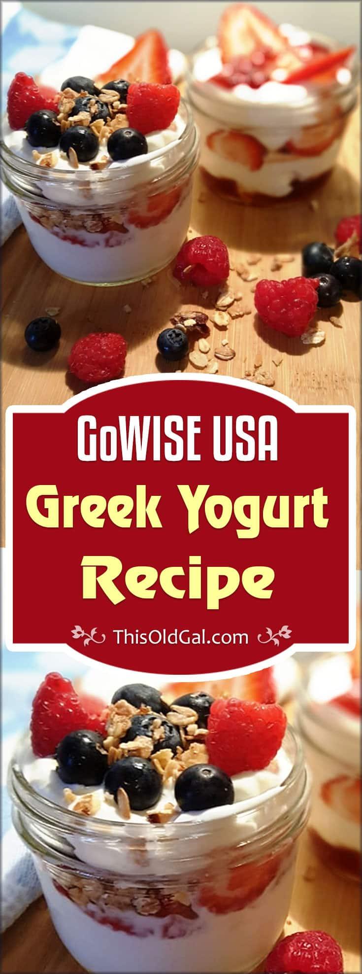 GoWISE USA Greek Yogurt Recipe (Regular Yogurt Too!)