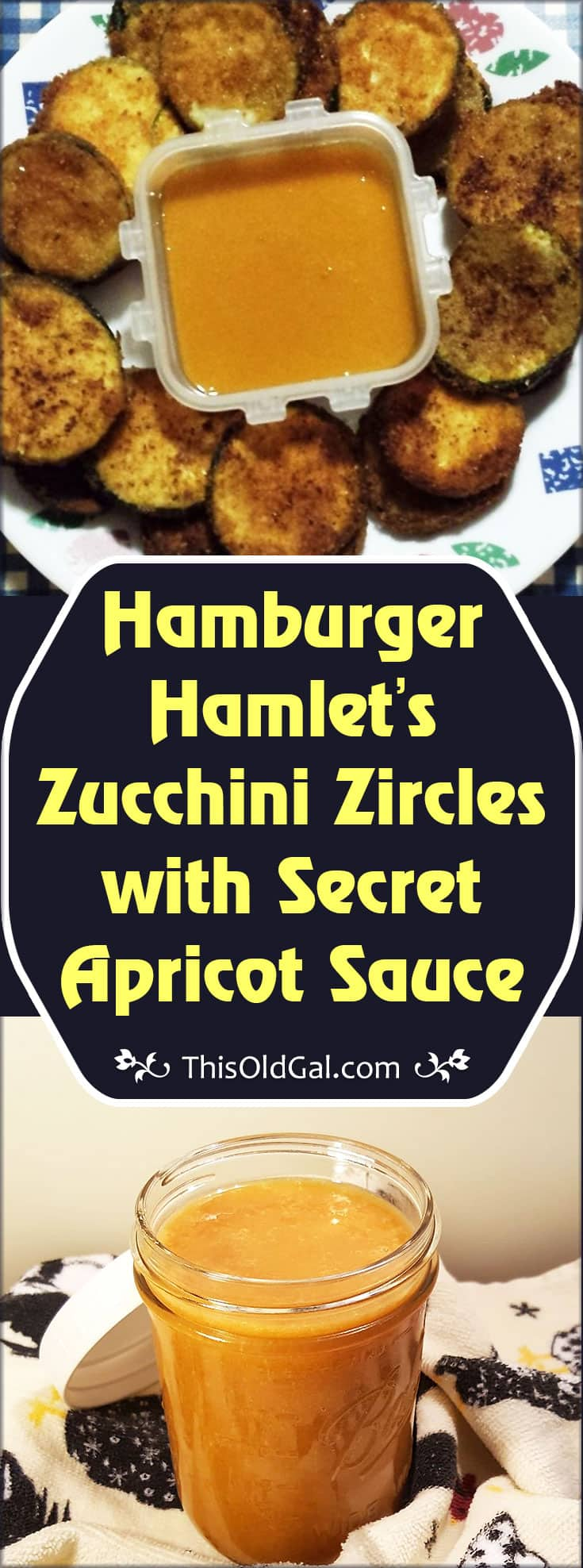 Hamburger Hamlet's Zucchini Zircles with Secret Apricot Sauce