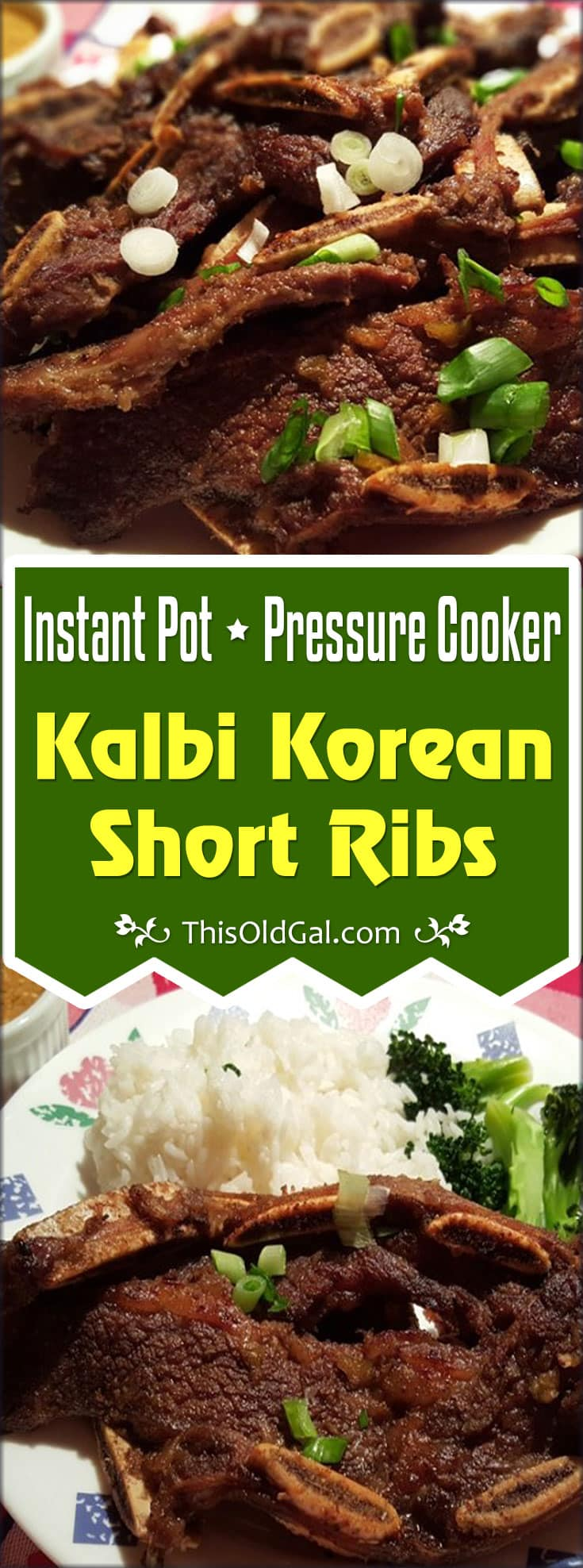 Instant Pot Pressure Cooker Kalbi Korean Short Ribs