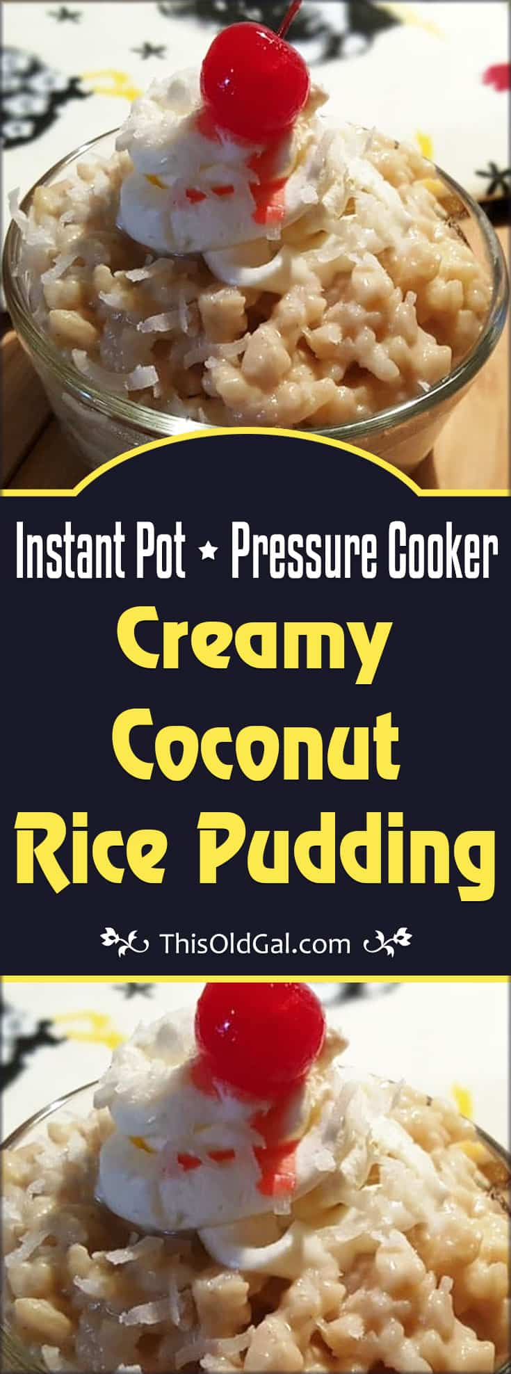 Pressure Cooker Creamy Coconut Rice Pudding