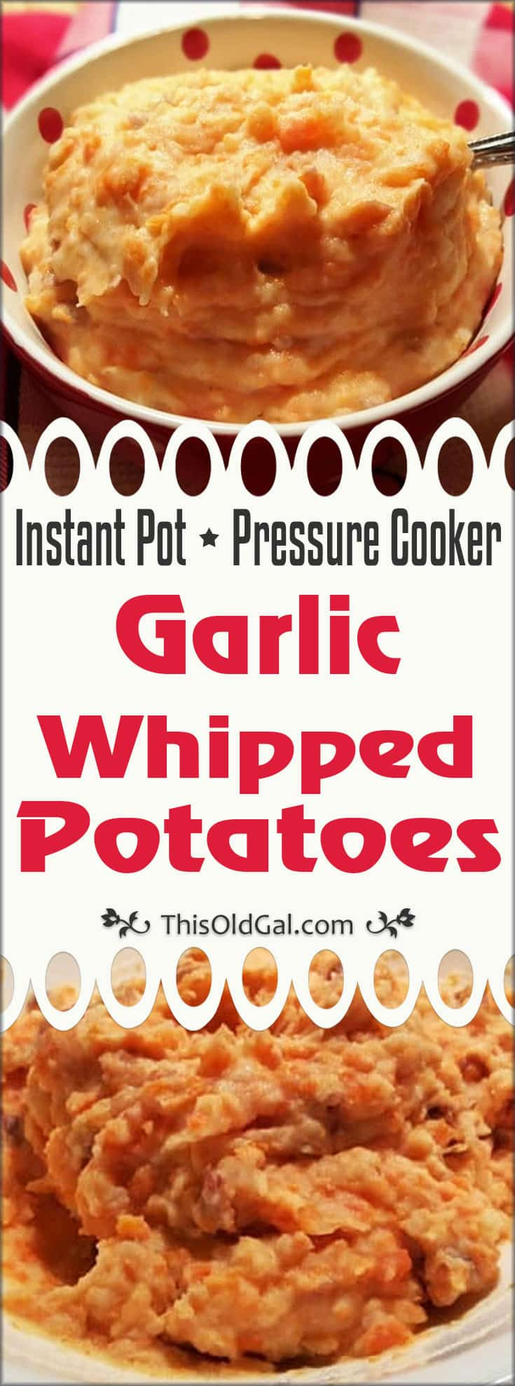 Pressure Cooker Garlic Whipped Potatoes (Instant Pot)