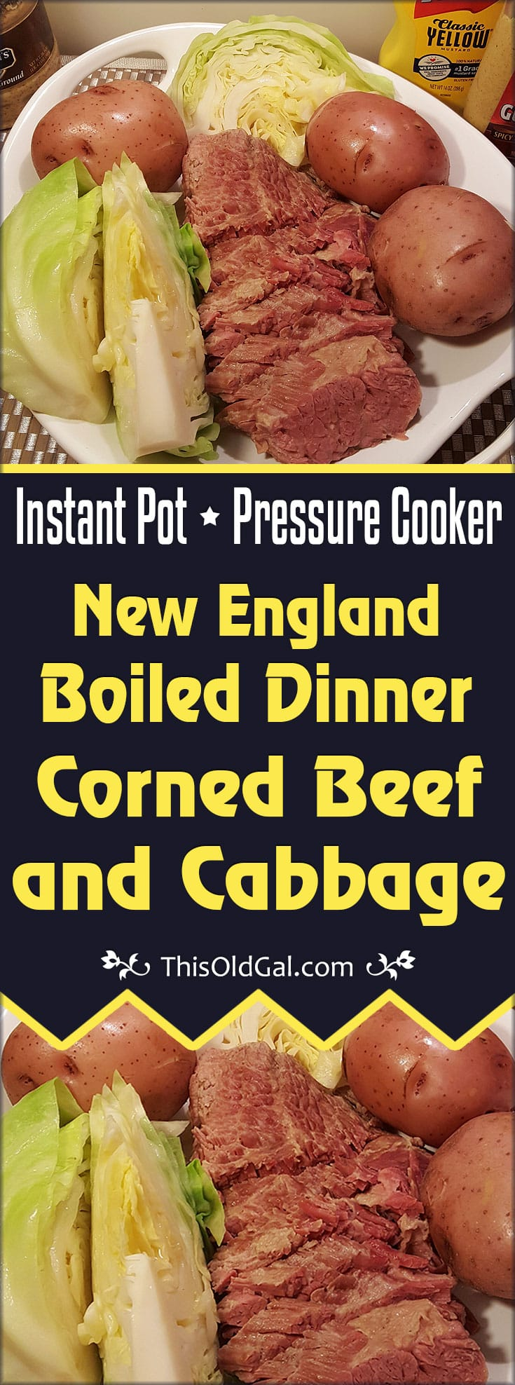 Pressure Cooker New England Boiled Dinner (Corned Beef and Cabbage)