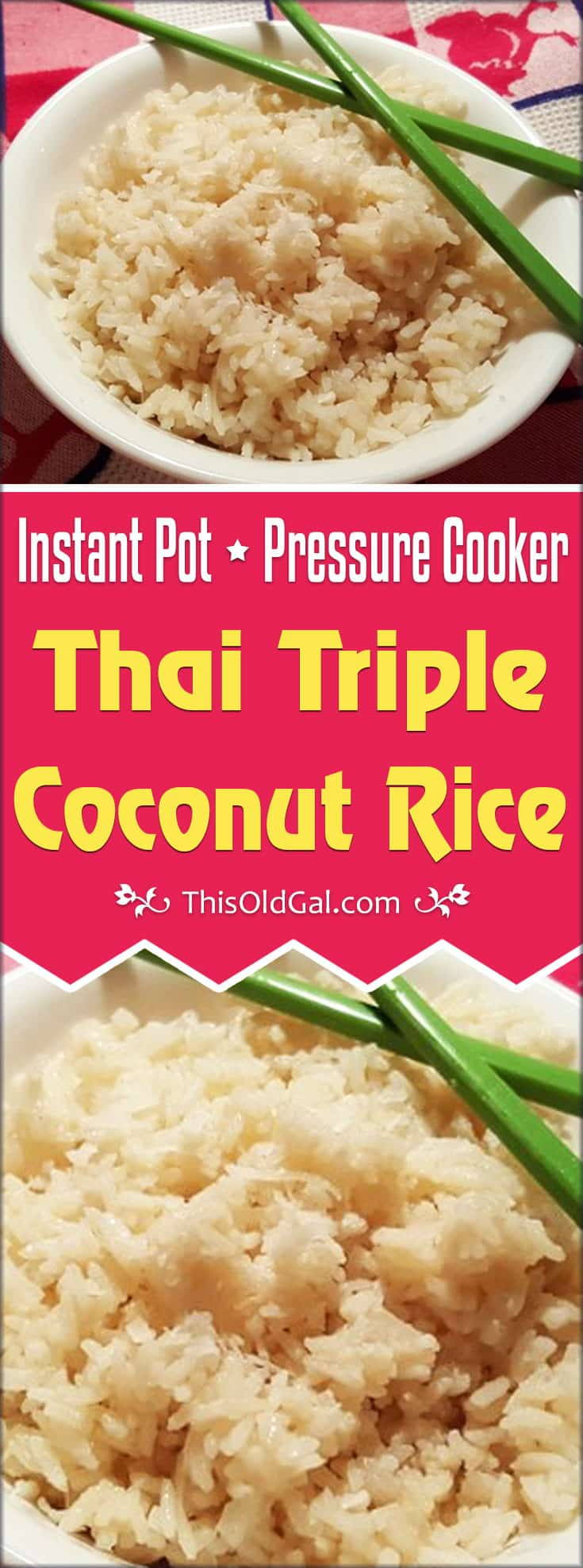 Pressure Cooker Thai Triple Coconut Rice