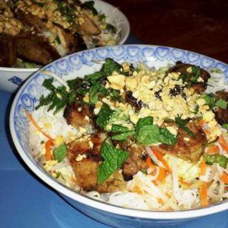 Bun Thịt Nướng Vietnamese BBQ Pork Cold Noodle Salad