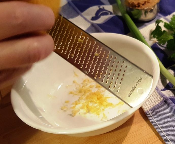 Use a Microplane to Zest the Lemon