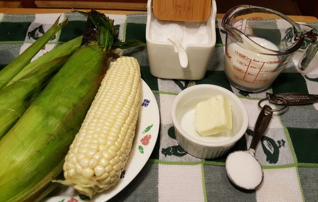 Cast of Ingredients for Pressure Cooker Corn on the Cob