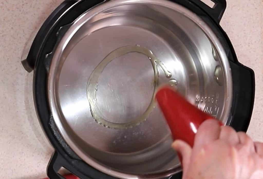 Add Olive Oil to Cooking Pot