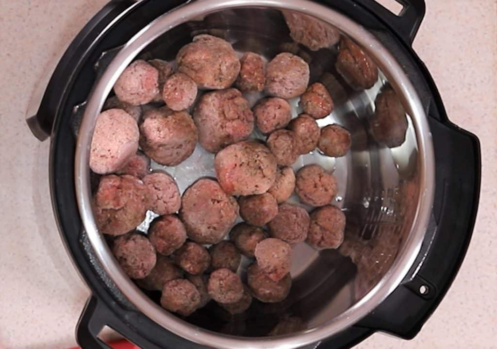 Add all the Frozen Meatballs