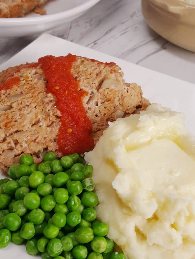 Instant Pot Turkey Meatloaf and Mashed Potatoes