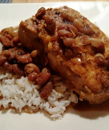 Instant Pot Pork Chops and Baked Beans