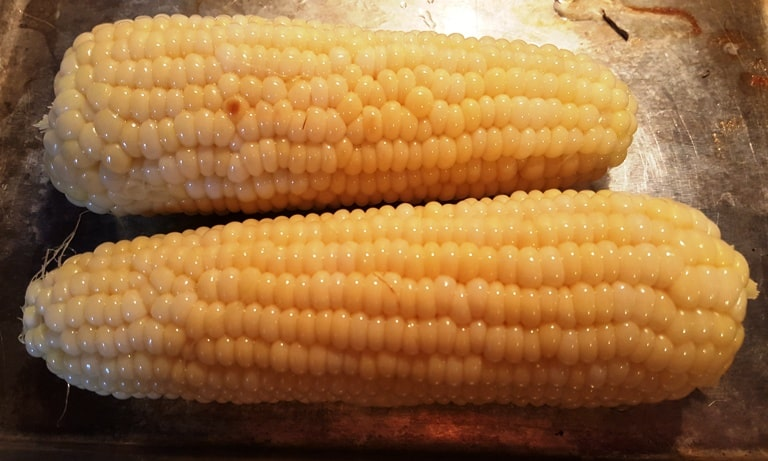 A close up of Corn on the cob