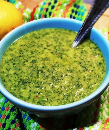 Argentine Chimichurri Sauce {Sauce Used for Grilled Meat}