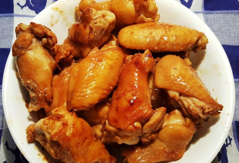 Remove the Braised Wings from the Pressure Cooker