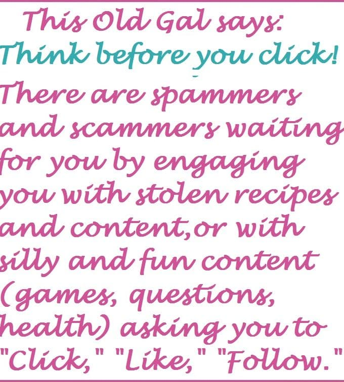Think Before you Click!