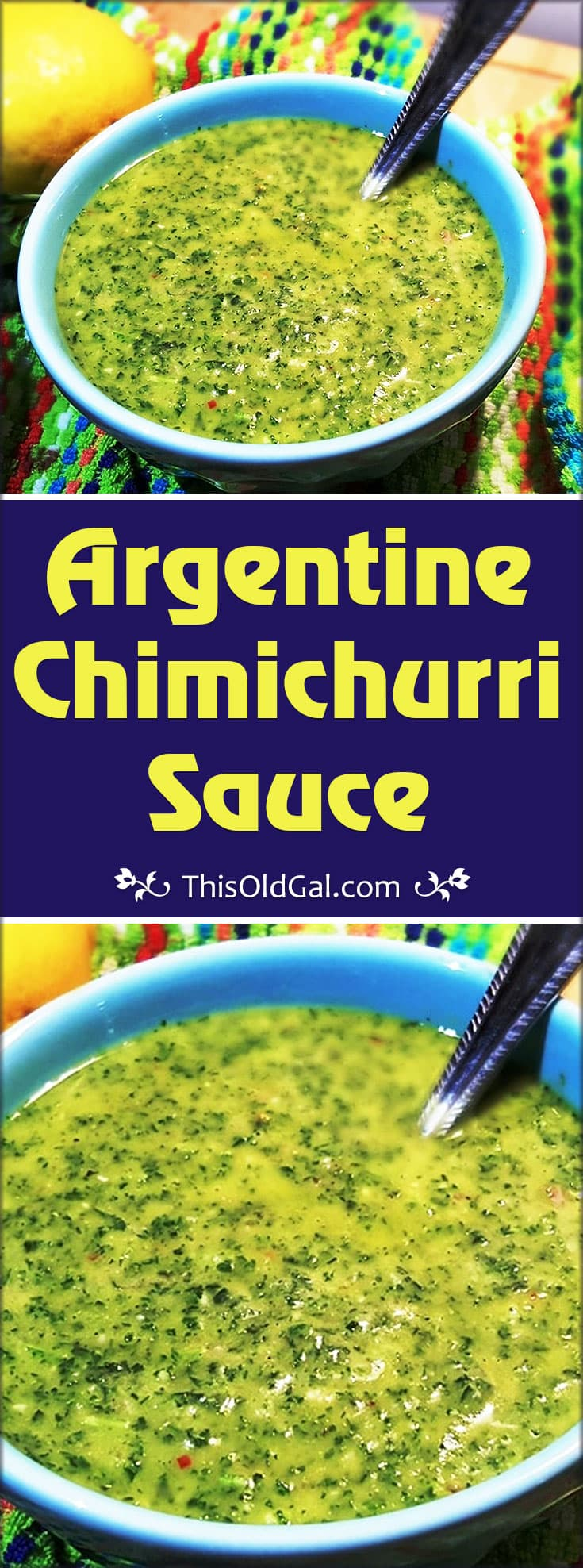 Argentine Chimichurri Sauce (Sauce Used for Grilled Meat)