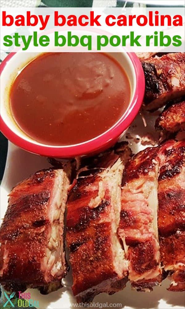Baby Back Carolina Style BBQ Pork Ribs