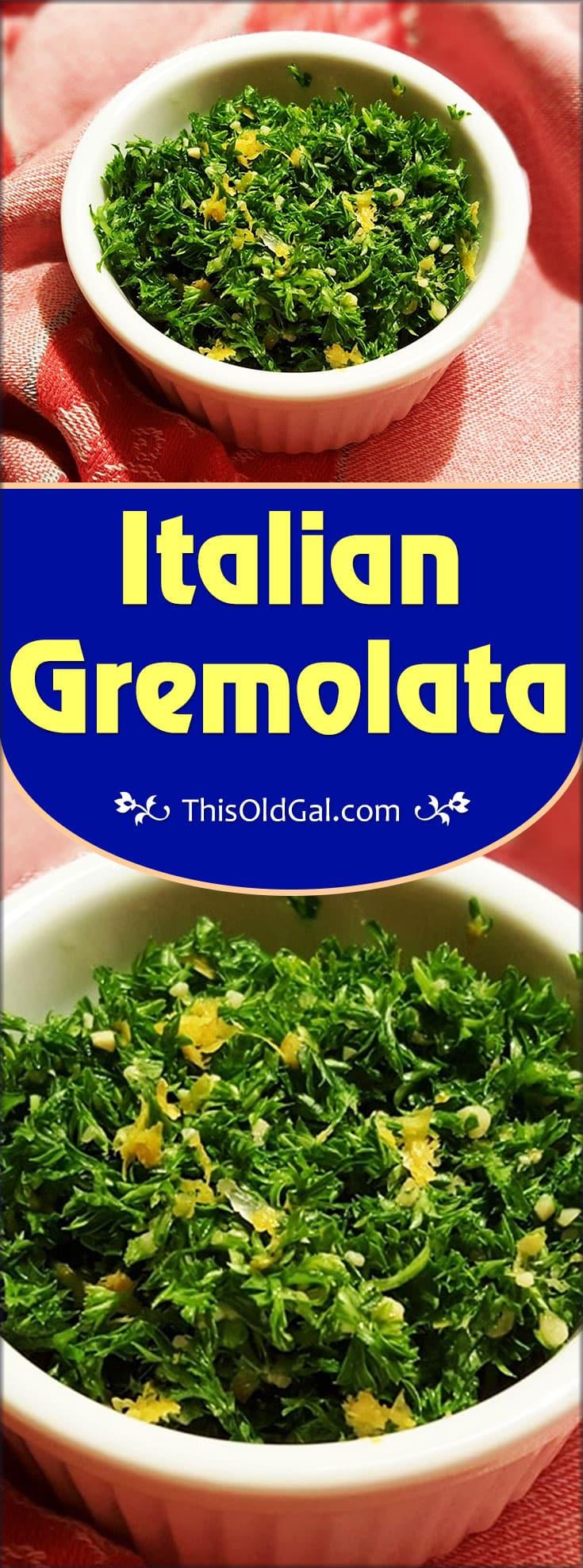 Italian Gremolata Recipe
