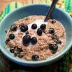 Pressure Cooker Blueberries and Cream Steel Cut Oats
