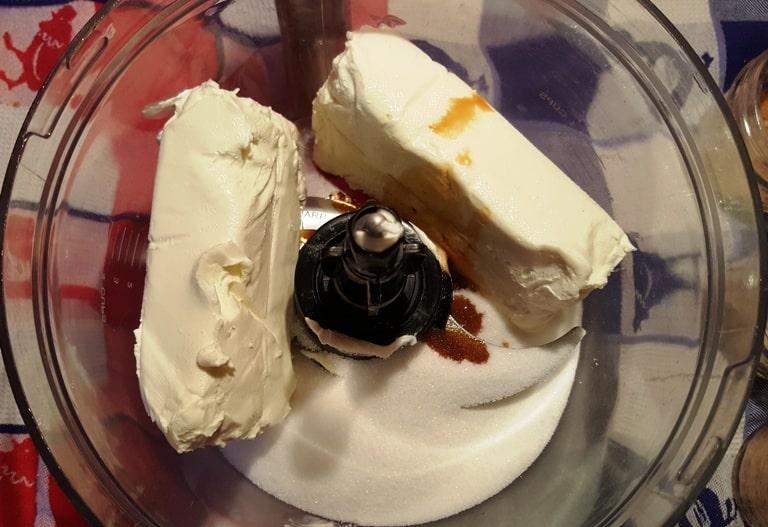 Cream Cheese, Sugar, and Vanilla