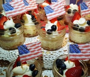 Red White and Blue Mini Cheesecake