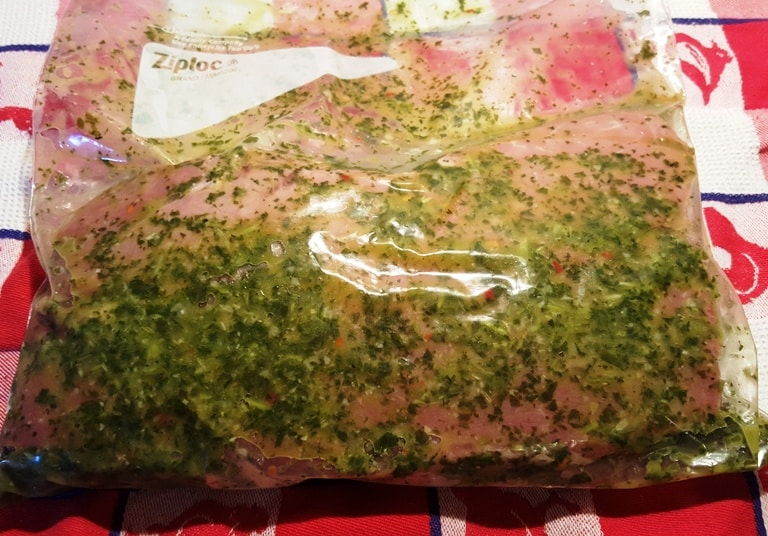 Marinate Meat in Chimichurri Sauce Overnight