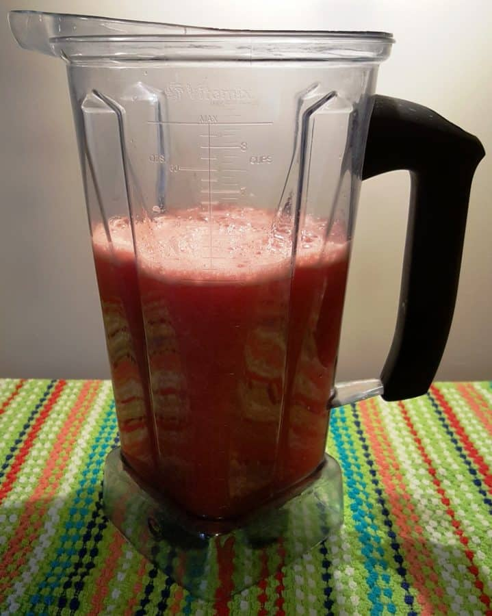 Watermelon Lemonade in a Vitamix