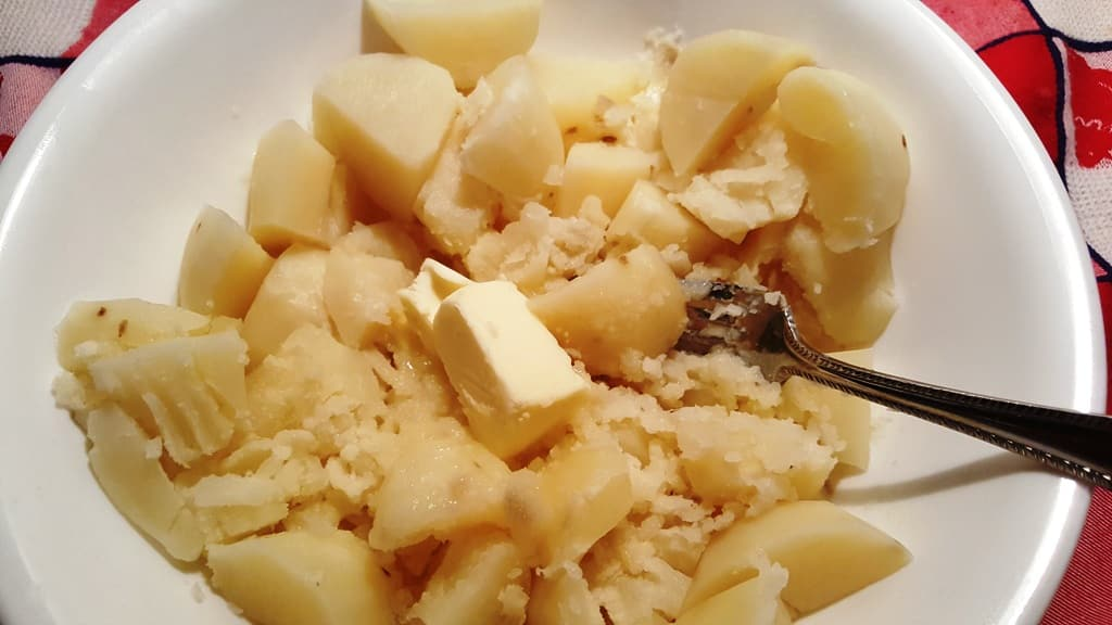 Add Butter to the Hot Potatoes