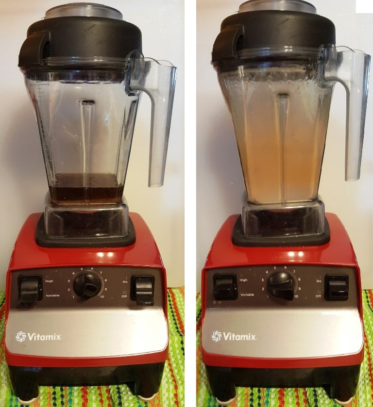 Mixing the Sugar in the Vitamix