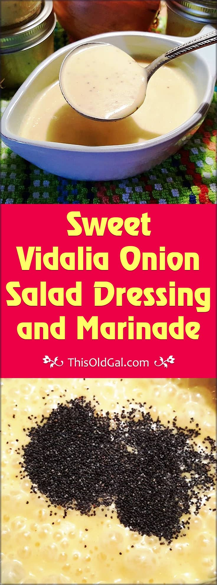Sweet Vidalia Onion Salad Dressing and Marinade