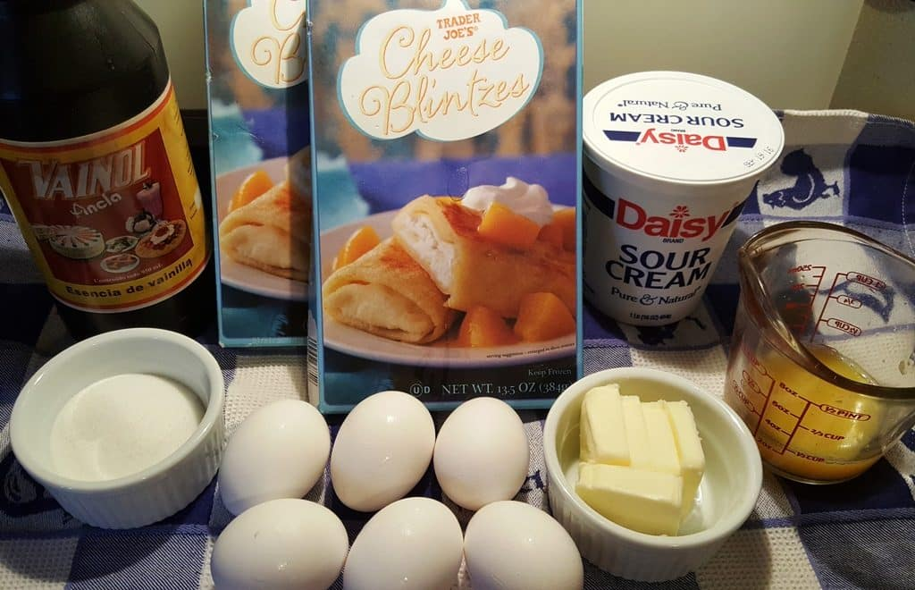 Cast of Ingredients for Shabbos Brunch Blintz Soufflé {Kosher Dairy}