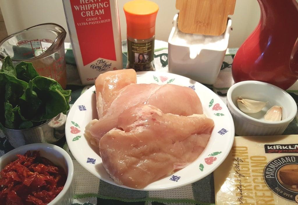 Fresh Chicken Breasts, Garlic, Sundried Tomatoes