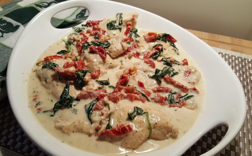 Pressure Cooker Creamy Tuscan Garlic Chicken, yum!