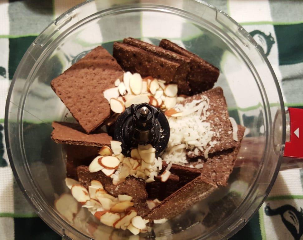 Chocolate Grahams, Almonds, Sweet Coconut