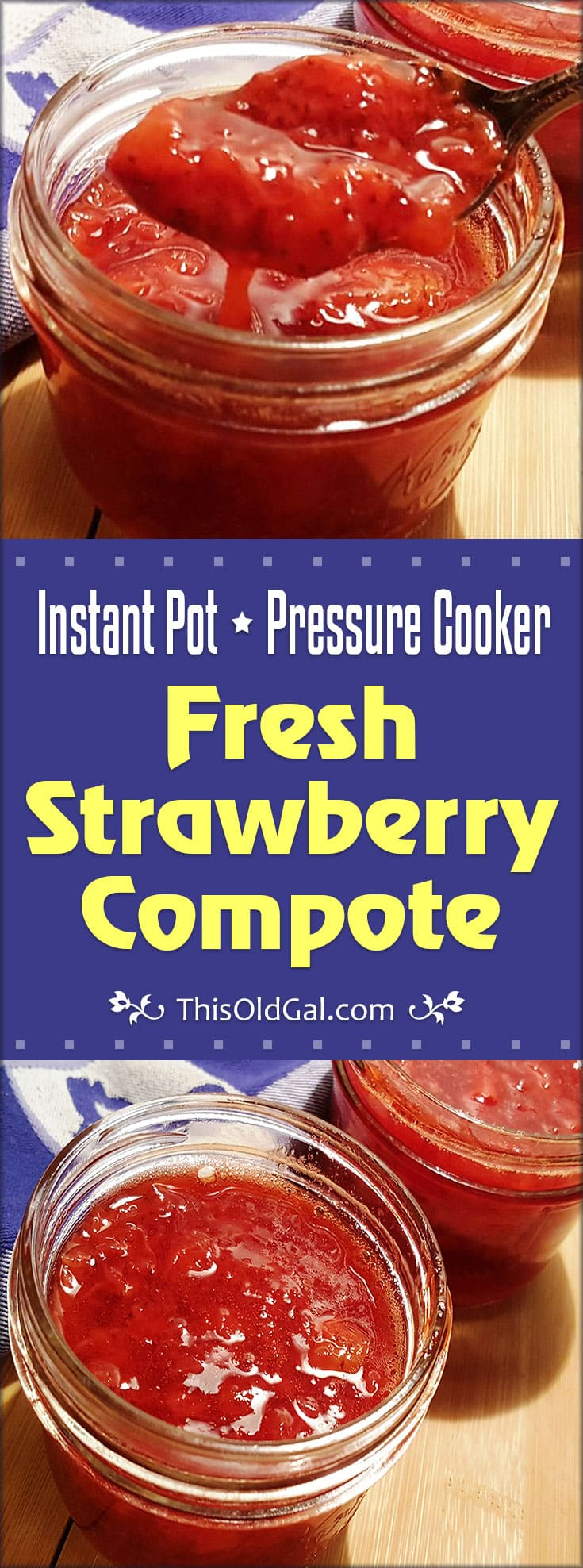 Pressure Cooker Fresh Strawberry Compote (Instant Pot)