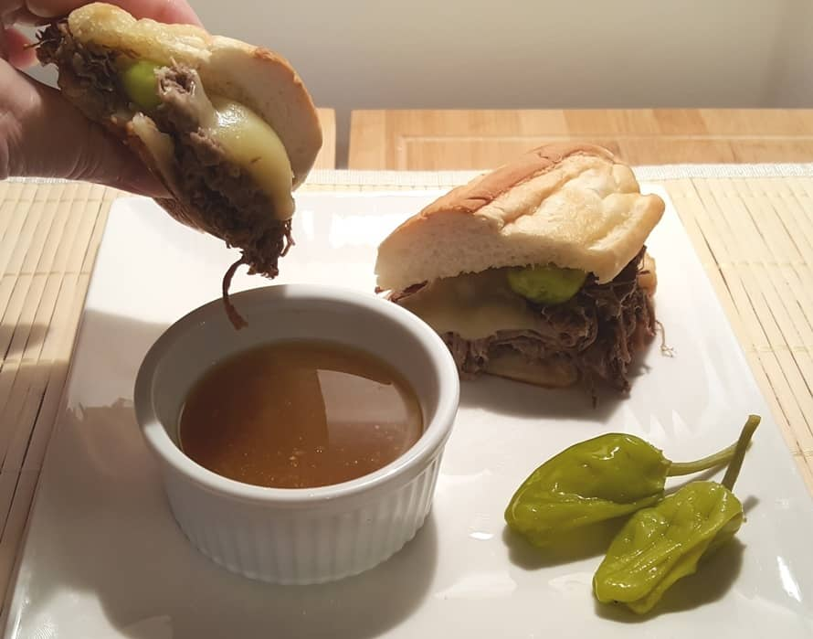 Pressure Cooker Italian Drip Beef French Dip | This Old Gal