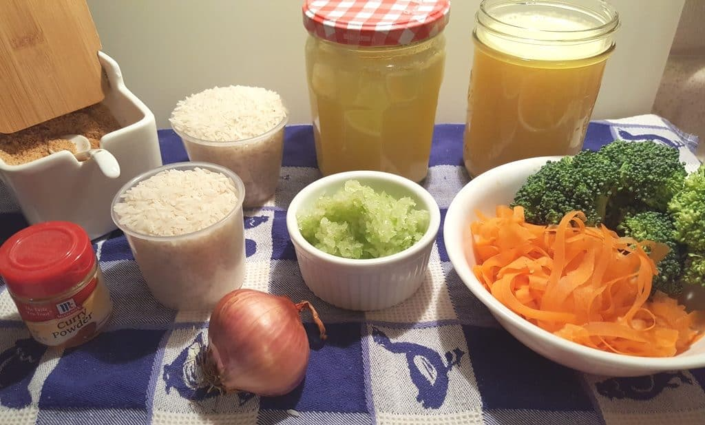 Ingredients for Pressure Cooker Seasoned Vegetable Ghee Rice