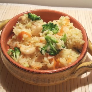 Pressure Cooker Seasoned Vegetable Ghee Rice