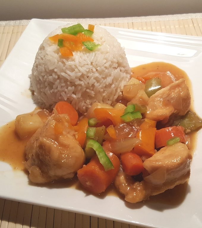 One Pot Pressure Cooker Chinese Orange Pepper Chicken & Rice