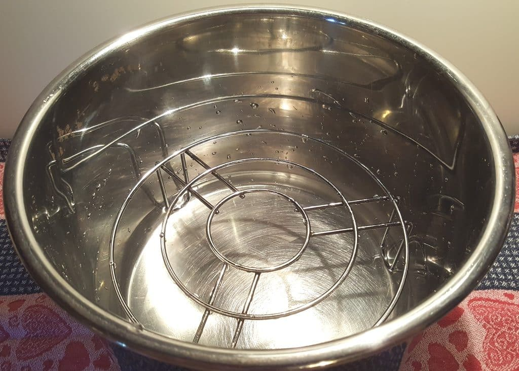 Place Trivet into Pressure Cooker Cooking Pot