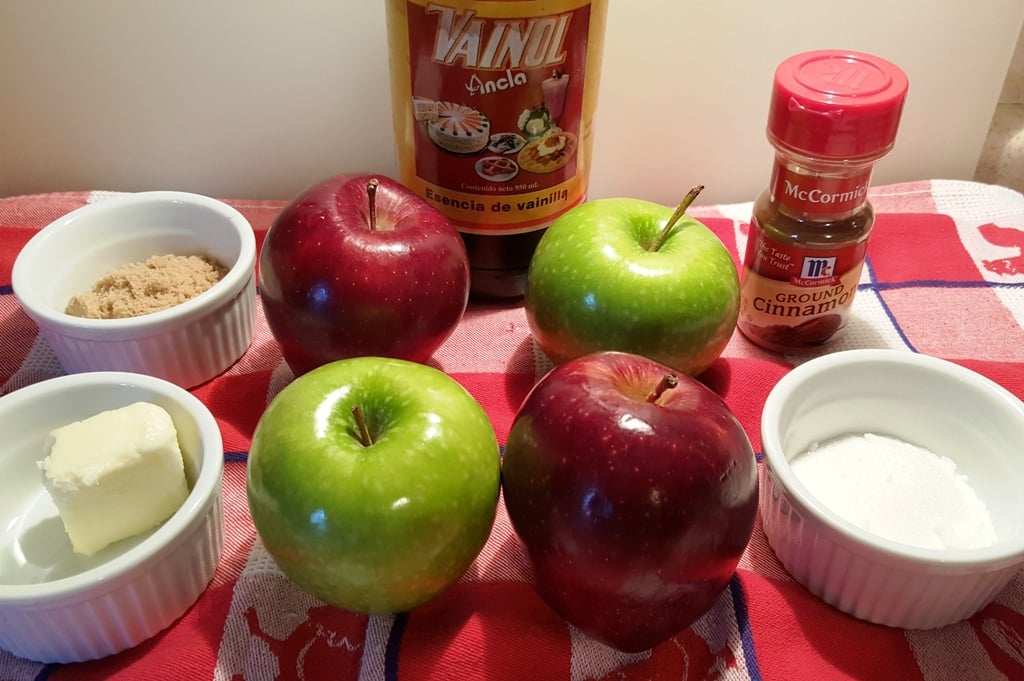 Ingredients for Pressure Cooker Dannon Dutch Apple Yogurt Compote