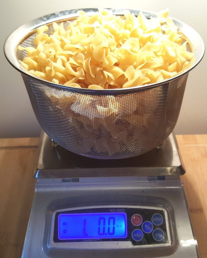Measure out a pound of pasta