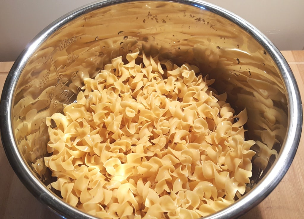 Add the pasta to the Instant Pot or Pressure Cooker