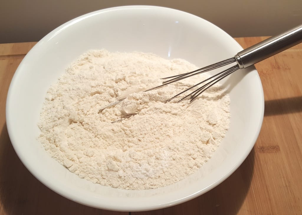 Add the rest of the dry ingredients to the Flour