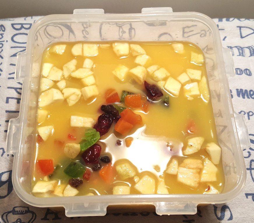 Combine Juice and Fruit