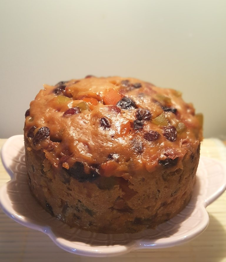 Pressure Cooker Three Ingredient Holiday Fruitcake