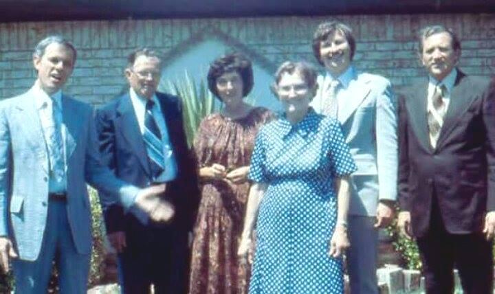 Grandma and Grandpa Mills with their Children